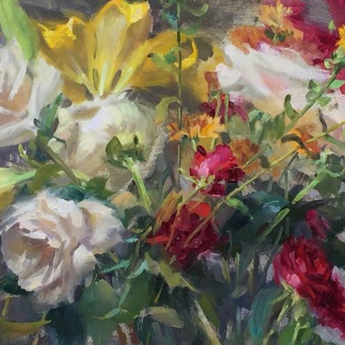 Demonstration Studio: Flowers in Oil