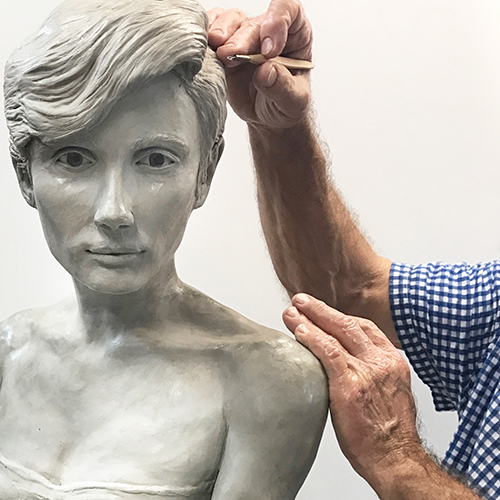 Figure Study in Clay with a Live Model