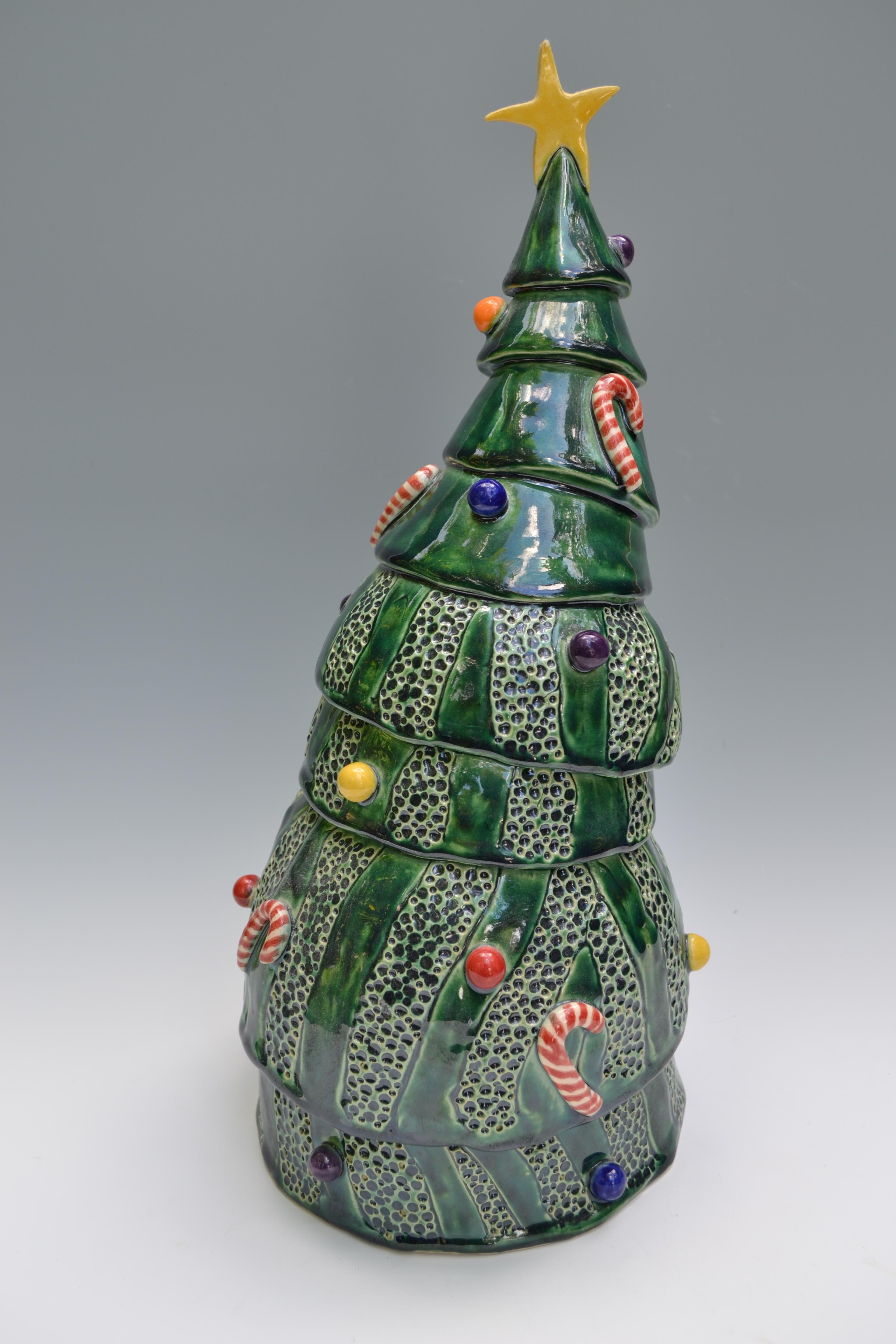 ceramics demonstration studio christmas trees - Christmas Ceramics